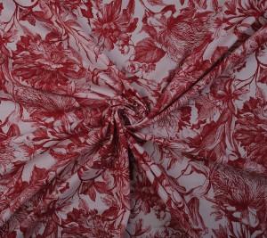 Włoska bawełna cienka drukowana - czerwona