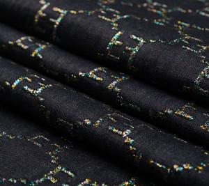 Dżins bawełniany Fendi z haften kolorowe logo