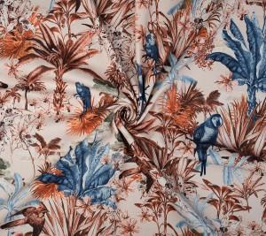 Bawełna z elastanem - grubsza - rajski ogród