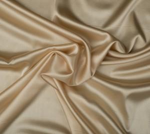 Satyna jedwabna z elastanem -  pudrowy kolor