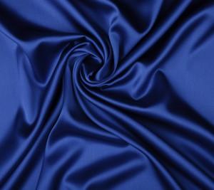 Satyna jedwabna z elastanem - chabrowy kolor