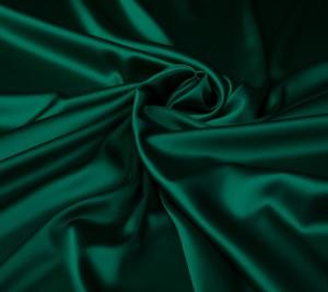 Satyna jedwabna z elastanem - zielony