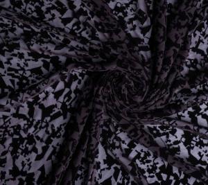 Jedwab devore - czarny
