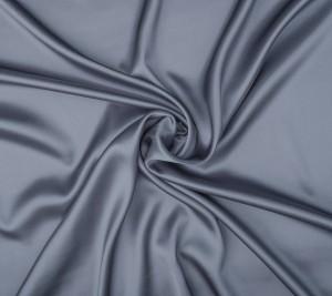 Satyna jedwabna z elastanem - metalowy kolor
