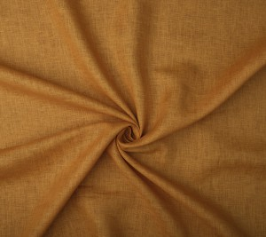 Tkanina lniana - sygnowana Fay - kolor ochra