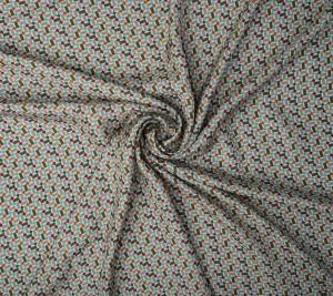 Muślin jedwabny - geometryczny wzór