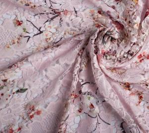 Koronka różowa .Gipiura