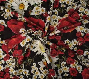 Żakard w kwiaty - sygnowany Dolce