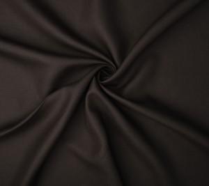 Tkanina lniana - kostiumowa - ciemno brązowa