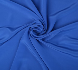Krepa jedwabna - niebieska