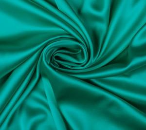 Jedwabna satyna z elastanem - zieleń