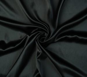 Satyna jedwabna 100% - kolor czarny