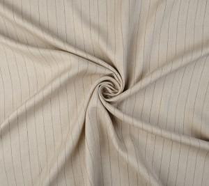 Tkanina lniana beżowa w paseczki - sygnowana Loro Piana