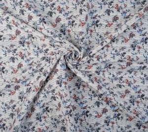 Żakardowa bawełna w kwiaty