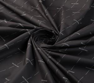 Popelina bawełniana - czarna - sygnowana