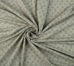 Bawełna z wiskozą - oliwka - sygnowana LV