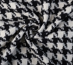 Tkanina chanel wełniana - kurza stopka - markowa Agnona