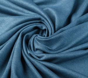 Dzianina wełniana - ciemnoniebieska - sygnowana Agnona