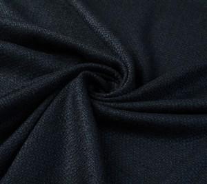 Tkanina Chanel wełniana granatowo-czarna