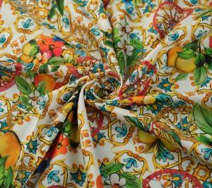 Batyst bawełniany - cytryny - pomarańcze Dolce