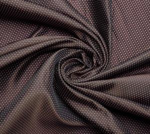 Kropki na brązowym tle. Włoskie tkaniny