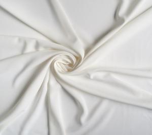 Materiał biały jedwab - krepa podwójna Cady elastyczna