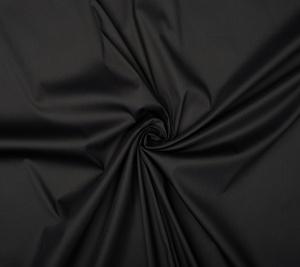 Bawełna koszulowa czarna - elastyczna - resztka 100 cm x 130 cm