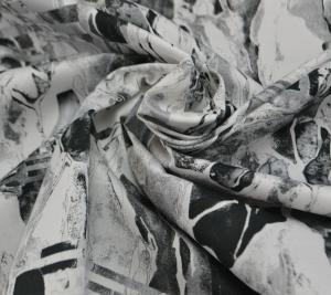Włoska bawełna Czarno-biała grafika