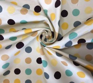 Tkanina bawełniana w kropeczki kolorowe PRADA