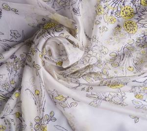 Jedwab w żółte kwiaty - muślin sygnowany Cavalli