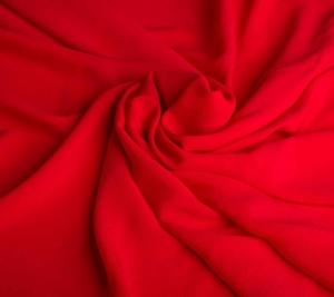 Włoski Crepe de chine w kolorze czerwień