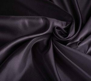 Włoski jedwab w prążki - czarny