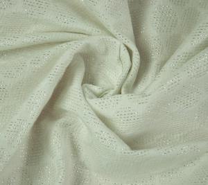 Żakard biały w kropeczki