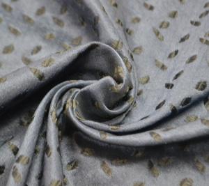 Żakard granatowy - drobne liście