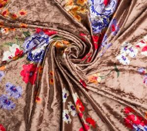 Aksamit elastyczny w kwiaty