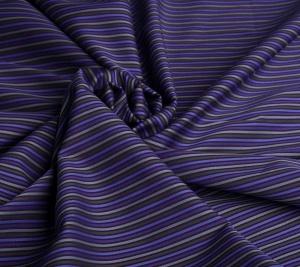 Włoska Bawełna koszulowa w paski. Fiolet