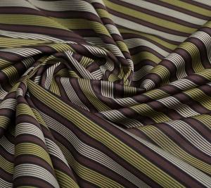 Bawełna w paski - zieleń - koszulowa