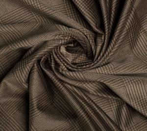 Aksamit bawełniany - ciemno zielony w kratę