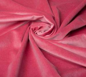 Aksamit bawełniany w kolorze różowym