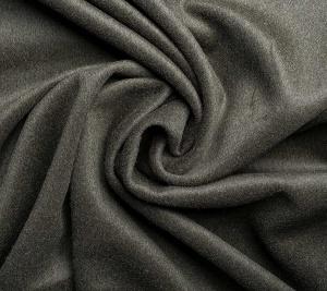 Materiał wełna płaszczowa w kolorze khaki - resztka 210 cm x 150 cm