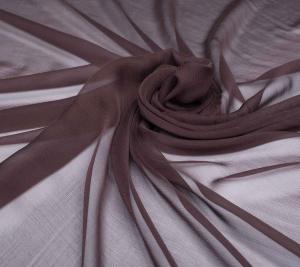Szyfon jedwabny - ciemna czekolada