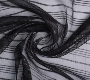 Jedwabna organza - sygnowana Cavalli - czarny kolor