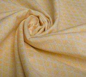 Żakard bawełniany - elastyczny - jasno żółty