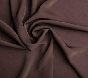 Tkanina wiskozowa - elastyczna - brąz