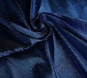 Tkanina plisowana w kolorze niebieskim