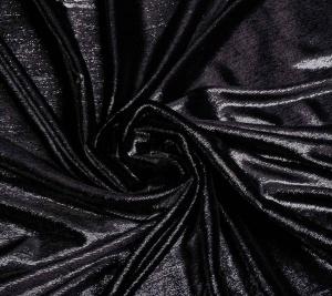 Tkanina welur - czarny z błyskiem