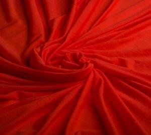 Włoska wiskoza elastyczna jasna czerwień