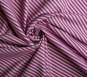 Włoska Bawełna miękka paski fioletowe