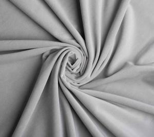 Aksamit bawełniany w kolorze jasnoszarym