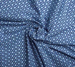 Wodoodporny poliester niebieski w kółka- sygnowany